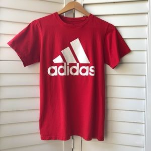 Red Adidas Small Go-To Tee